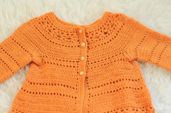 Crochet Gina Toddler Cardigan by Vicky Chan