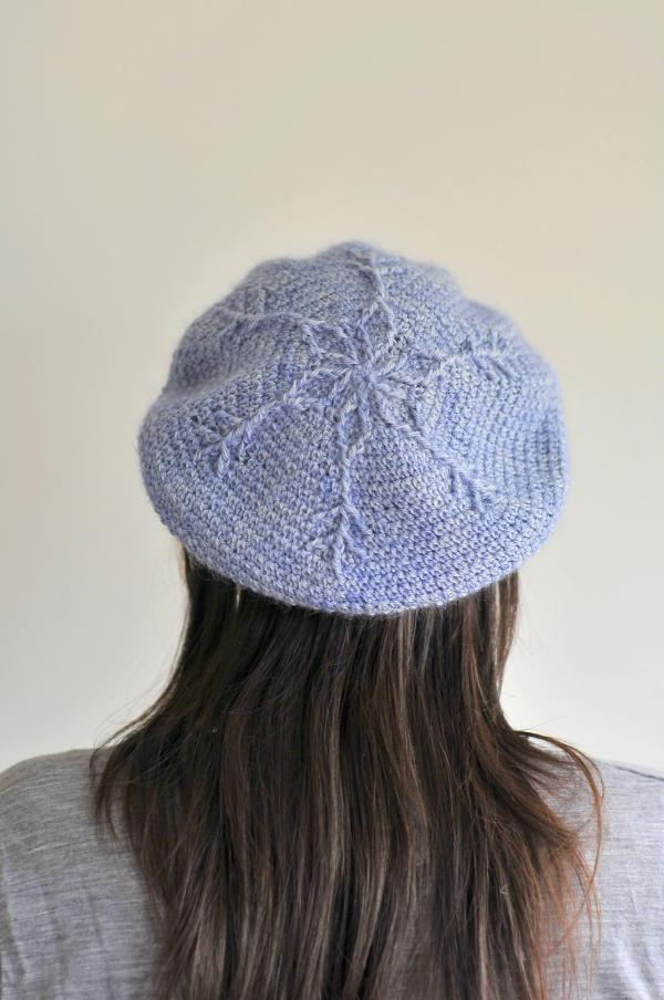 Crochet Snow Queen Beret by Brenda K B Anderson