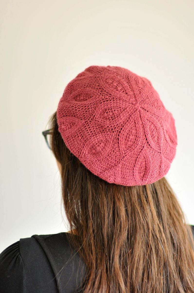 DIY: Crochet Pizzelle Beret by Linda Permann