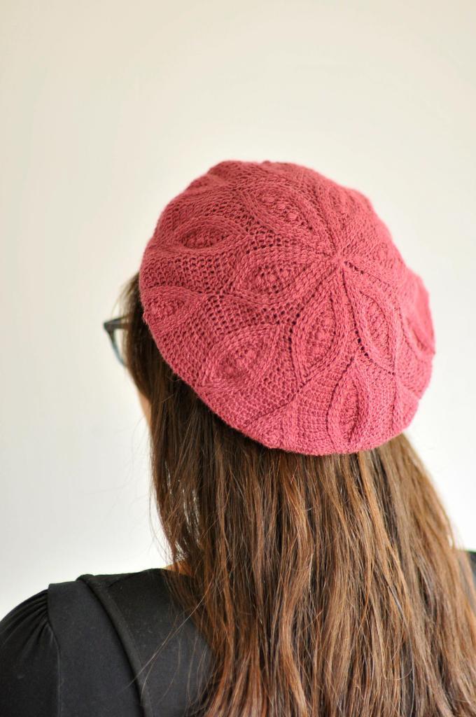 Crochet Pizzelle Beret by Linda Permann