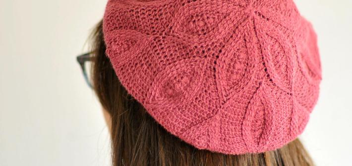 Crochet Pizzelle Beret by Linda Permann