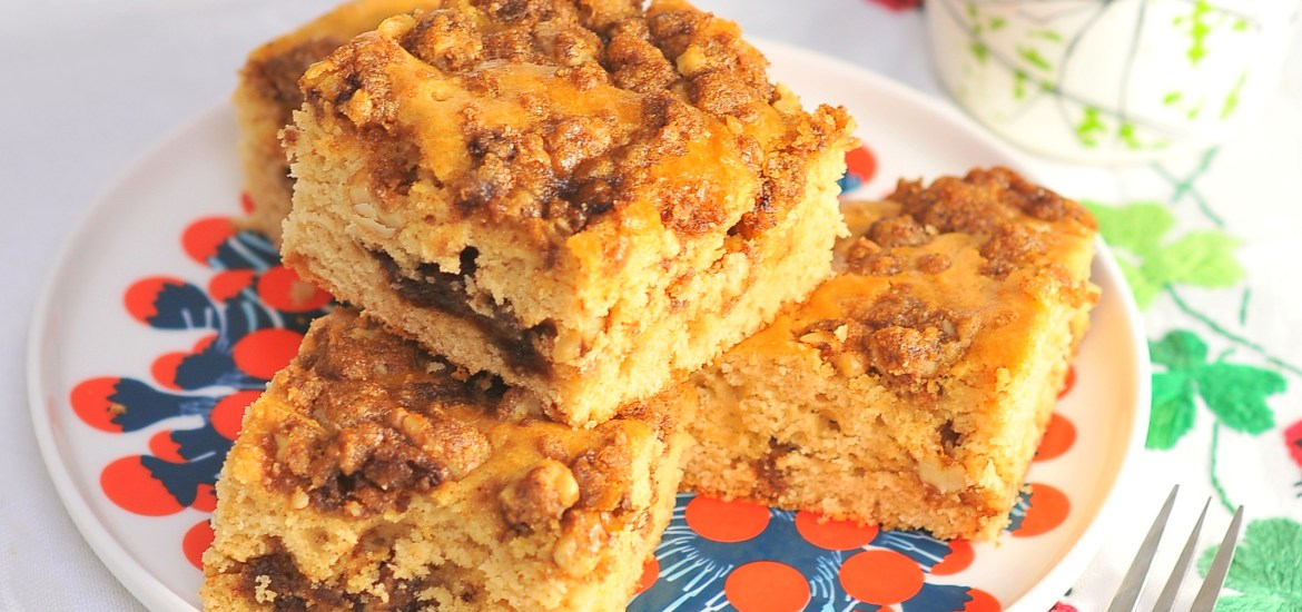 Cinnamon Streusel Coffee Cake from Kiku Corner