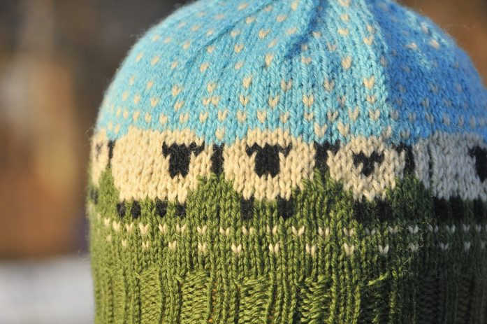 Knit Baa-ble Hat by Donna Smith