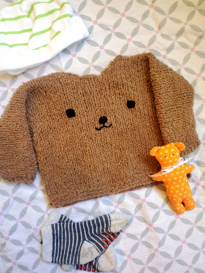 Knit Teddy Bear Sweater and Free Pattern by Marta Porcel