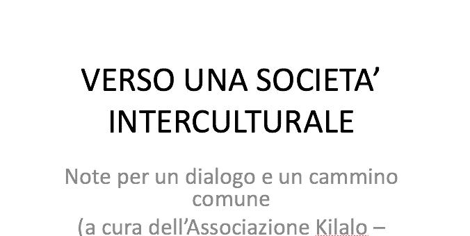 Verso una società interculturale