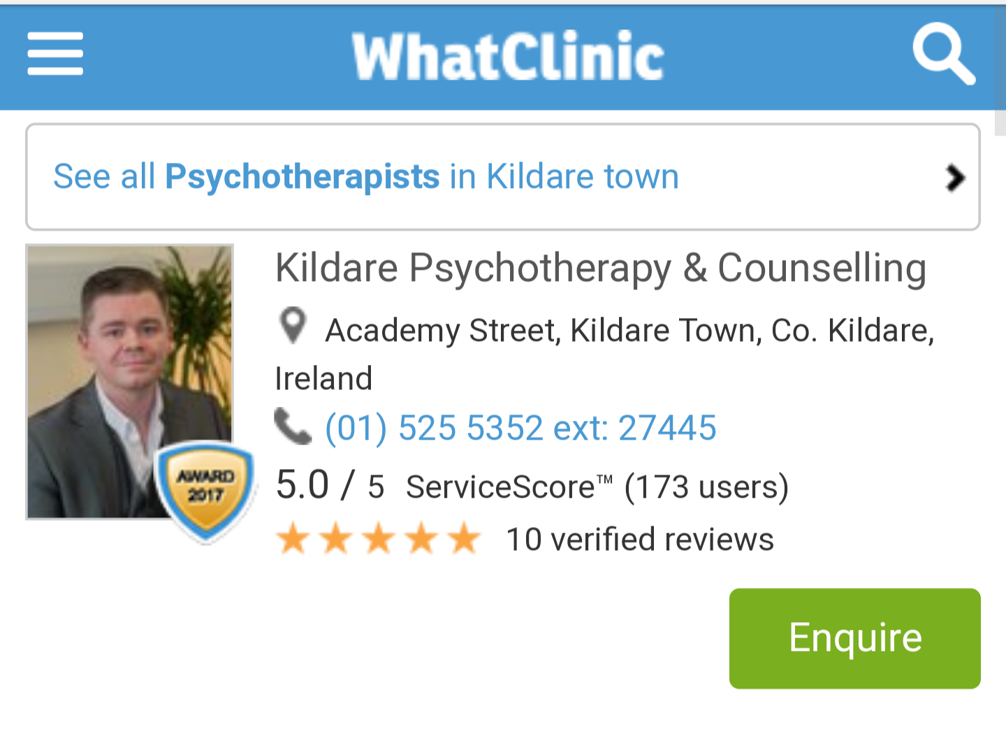Highest Rated Counselling Service in Kildare