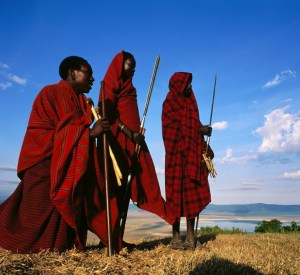 Masai in the Edge_of the Ngorongoro Tanzania, Africa