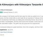 lan W Review on Kilimanjaro Tanzanite Safaris LTD