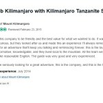 lan W Review on Kilimanjaro Tanzanite Safaris LTD