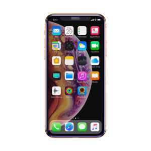 Apple iPhone XS Max 6.5 Baseus Full-Screen Curved Anti-Blue Light Tempered Glass Protector (Cellular Dust Preven) iPhone XS Max 6.5