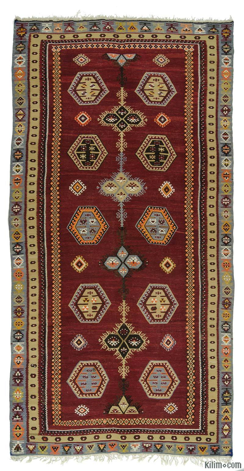 K0016013 Red Vintage Sarkisla Kilim Rug  6 x 118 72