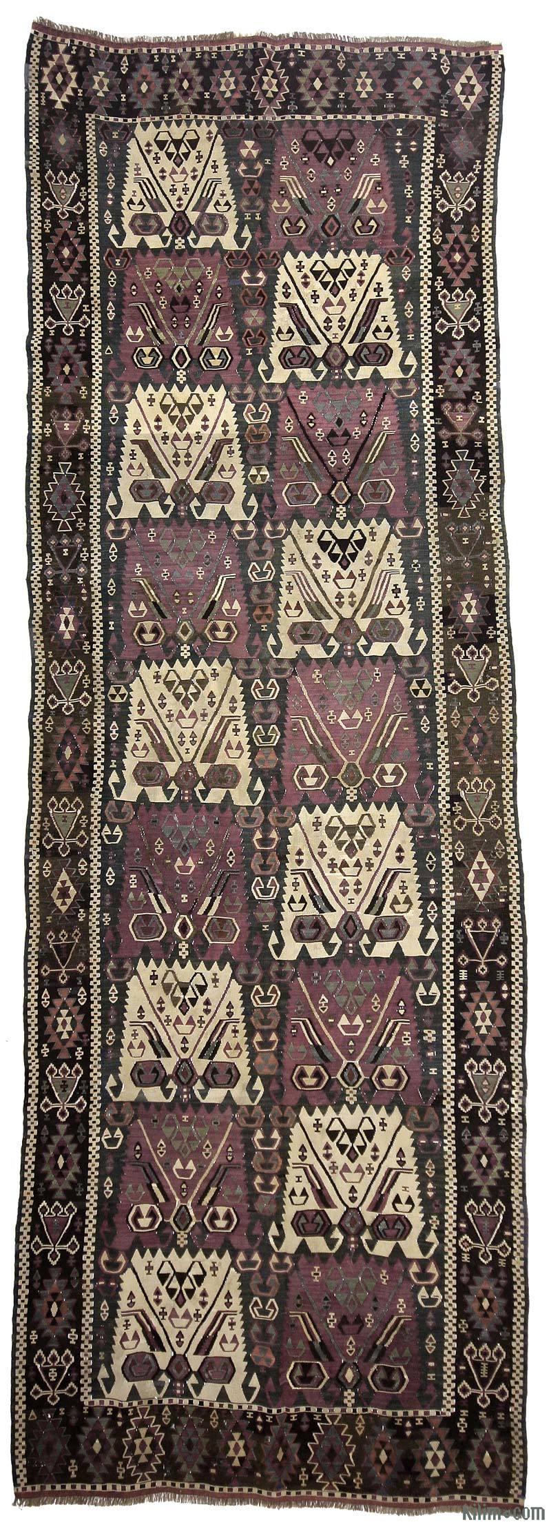K0020927 Purple Antique Kagizman Kilim Rug