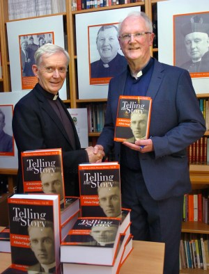 "Fr Brendan Hoban pictured at the launch of his book ""Telling The Story"" in the Newman Institute with Bishop of Killala Most Rev Dr John Fleming who launched this most impressive chronicle, dictionary and history of Killala Diocesan Clergy. Picture Henry Wills."