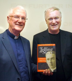 Fr Brendan Hoban pictured at the launch of his book with friend, historian and fellow author Fr Kevin Hegarty.