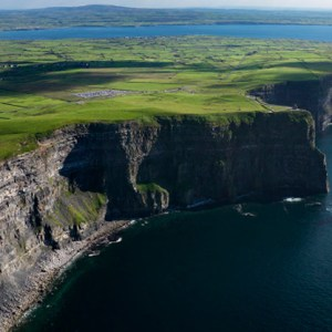 The Cliffs of Moher in Ireland offer spectacular views to tourists.
