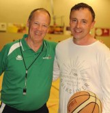Ireland head coach Pete Strickland met up with Kerry basketball star John Teahan for the first time since 1988