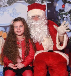 Faye Griffin, Killarney, with Santa