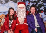 Santa was delighted to meet Emer and Grace O'Keeffe