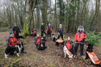Members of Search and Rescue Dog Association who gave a demonstration of their training at a workshop at Killarney Mountain Festival, from left, Mike Palmer, Simon Evans, Jean Ryan, Gerry Tobin, Henry Smith, Pauliina Kauppila, Louise Burgoyne, Dorothy Grimes and Janet Murphy