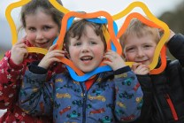 Enjoying the children's activities at Killarney House and Gardens were Ciara Moore, Oisin Moore and Conor Brady