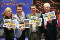 Fiona O'Connor, sales manager, INEC, singer, Michael English, Mayor of Kerry,Cllr John Sheahan and entertainer Brendan Shine