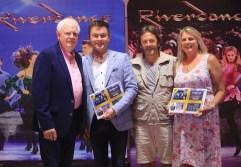 Entertainers Brendan Shine and Michael English with John O'Sullivan and Marie Kehoe O'Sullivan