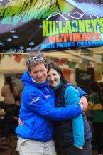 Organisers Piaras and Catherine Kelly back at basecamp in Cronin's Yard