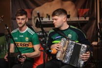 Conor O'Loughlin (left) and Brian O'Leary who is a grandson of the legendary box player Johnny O'Leary