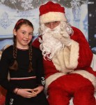 Alannah Power was happy to meet Santa