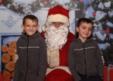 John and Gary O'Connor, Muckross, meeting Santa Claus