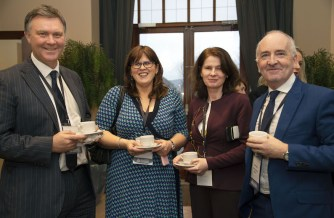 At the Killarney Economic Conference were, from left, Cllr Graham Spring, Brigid Fitzgerald, Economic Development Manager, Kerry County Council, Marie Ní Cheallaigh, Tourism and Economic Development Officer, Killarney Municipal District and Aidan Kelly, Tralee Chamber Alliance