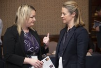 Sinead McCarthy, Manager, Brehon Hotel (left) and Niamh O'Shea, Kerry branch of the Irish Hotels Federation at the conference