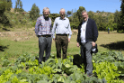 Bishop Ray and Bishop Billy Crean (right) on a visit to local farm projects