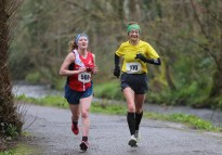 Alannah Keena (left) and Caroline Murphy who finished second and third