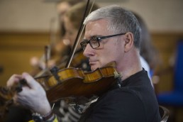 Paul McHugh at one of the fiddle workshops