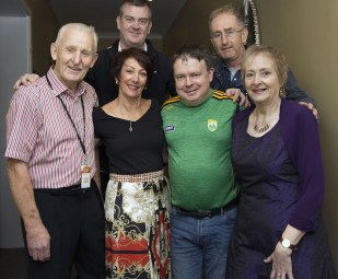 Organisers of the Gathering Traditional Festival Pat O'Brien, Ann Mangan, John O'Donoghue, John Dineen, John O'Shea and Anne Keane