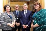 Kerry County Council CEO Moira Murrell (left) with Minister Paschal Donohoe, Professor John O'Halloran, UCC and Brigid Fitzgerald, Economic Advisor, Kerry County Council