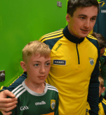Paul Murphy, who skippered Kerry in the National League, with a young supporter