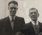Máiréad's dad Tom (left) and grandfather Pat Murphy