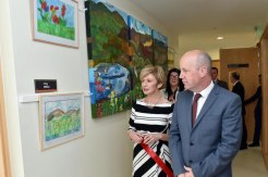 Helena Buckley, Clinical Nurse Manager, gives Minister for Mental Health and Older People, Jim Daly, a tour of the Fiachne Day Centre at Kenmare Community Hospital