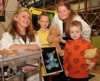 Maria Fleming and Bridget Sheehan with children Grace and Adam Sullivan at the Teddy Bears Hospital