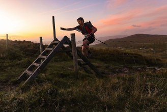 And into the night: Fergus Melligan approaching Coomakista, Caherdaniel as darkness falls