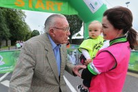 John at the launch of this year's Ring of Kerry charity cycle with Logan O'Connor with his aunt Triona O'Connor
