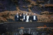 The bridal party: Shane and Orla with Eddie Myers and Jason Clifford and Clodagh and Ellie Woulfe