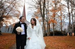 Newly weds: Nature played its part on the big day