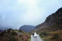 First walk as husband and wife: The Gap of Dunloe was picture-pecfect