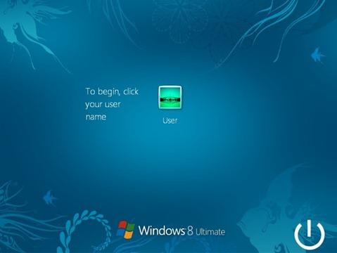 Login Screen Windows 8 ট্রান্সপরমার প্যাক ও Angry Birds থিম