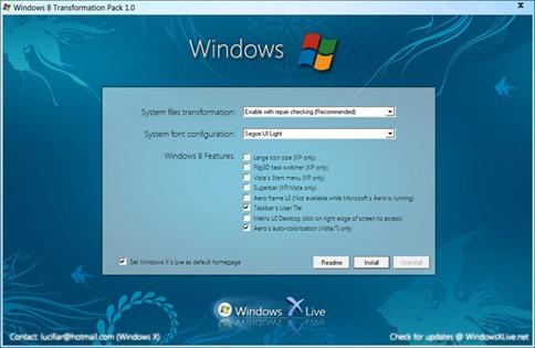 Windows 8 Transformation pack installation Windows 8 ট্রান্সপরমার প্যাক ও Angry Birds থিম