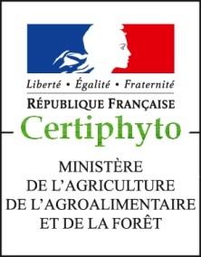 Cette image represente notre agrement certiphyto du Ministere de l'Agriculture