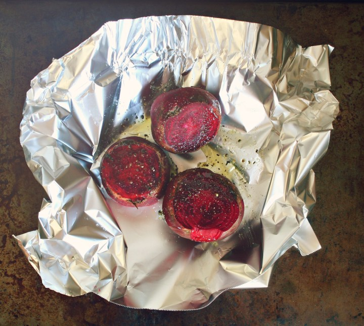 beets in foil